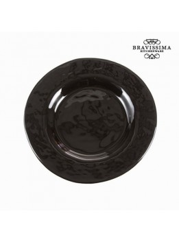 Assiette plate en verre noire - Collection Crystal Colours Kitchen by Bravissima Kitchen