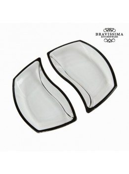 Lot de 2 bols en verre noirs - Collection Crystal Colours Kitchen by Bravissima Kitchen