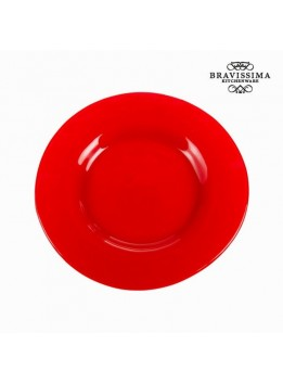 Assiette plate en verre rouge - Collection Crystal Colours Kitchen by Bravissima Kitchen
