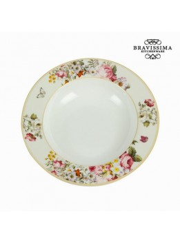Assiette creuse bloom white - Collection Kitchen's Deco by Bravissima Kitchen