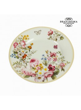 Assiette à dessert bloom white - Collection Kitchen's Deco by Bravissima Kitchen