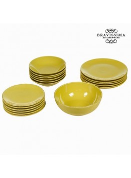 Service vaisselle de 19 pieces en faience couleur  - Collection Kitchens Deco by Bravissima Kitchen