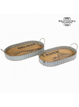 Lot de 2 plateaux - Collection Art + Metal by Bravissima Kitchen