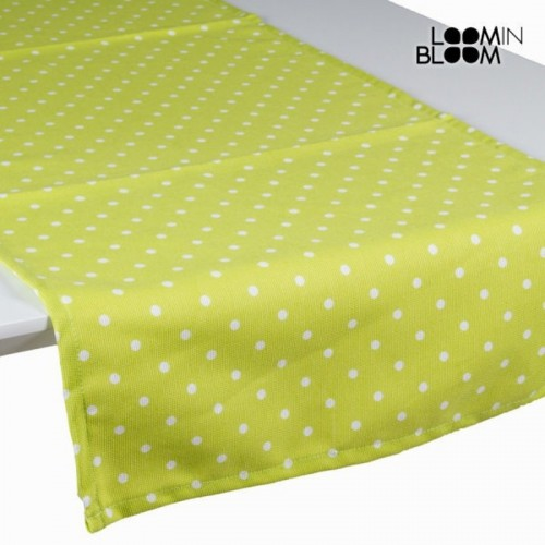Chemin de table vert à pois - Collection Little Gala by Loomin Bloom