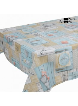 Théière nappe bleue by Loomin Bloom