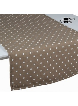 Chemin de table beige à pois - Collection Little Gala by Loomin Bloom