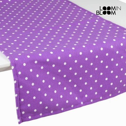 Chemin de table violet à pois - Collection Little Gala by Loomin Bloom