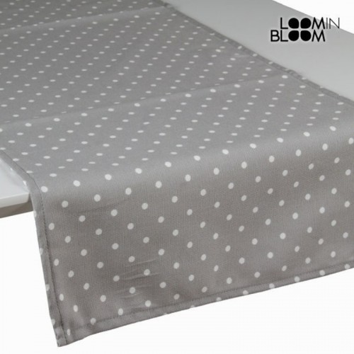 Chemin de table gris à pois - Collection Little Gala by Loomin Bloom
