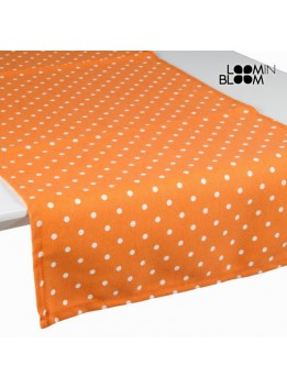 Chemin de table orange à pois - Collection Little Gala by Loomin Bloom
