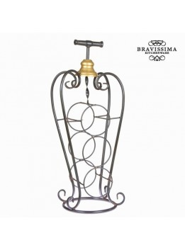 Porte-bouteilles en forme de vase - Collection Art & Metal by Bravissima Kitchen