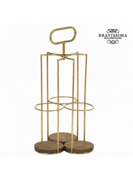 Porte-bouteilles pour 3 bouteilles - Collection Art & Metal by Bravissima Kitchen