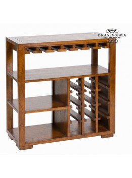 Porte-bouteilles avec casiers en bois - Collection Serious Line by Bravissima Kitchen