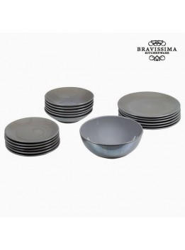 Assietes (19 pcs) Vaisselle Gris - Collection Kitchen's Deco by Bravissima Kitchen