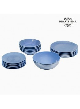Assietes (19 pcs) Vaisselle Bleu clair - Collection Kitchen's Deco by Bravissima Kitchen